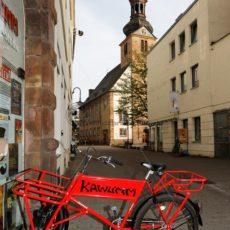 Kawumm Kronenstraße und alte evangelische Kirche, Saarbrücken - Bildtankstelle.de