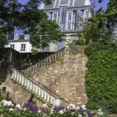 Treppenaufstieg im Schlossgarten, Saarbrücken - Bildtankstelle.de