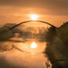 Sonnenaufgang Ostspangenbrücke Saarbrücken Saarland - Bildtankstelle.de