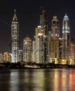 Dubai Skyline, Dubai Vereinigte Arabische Emirate - Bildtankstelle.de