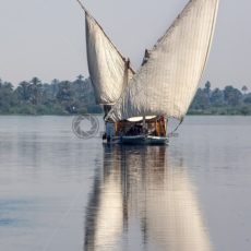Segelboot auf dem Nil - Bildtankstelle.de
