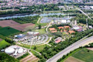 Blick auf den Zeltpalast bei Merzig, Saarland - Bildtankstelle.de