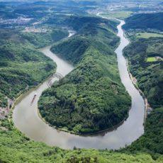 Luftaufnahme von der Saarschleife - Bildtankstelle.de
