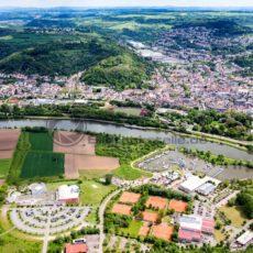 Merzig aus der Luft, Saarland - Bildtankstelle.de