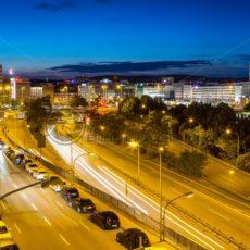 Blick auf die Innenstadt von Saarbrücken, Saarland - Bildtankstelle.de