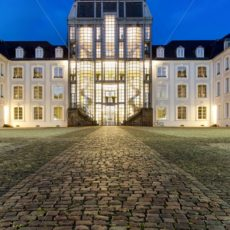 blaue Stunde am Saarbrücker Schloss, Saarland - Bildtankstelle.de