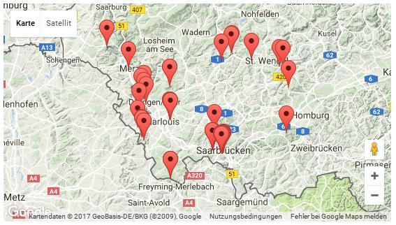 Karte mit Fotos