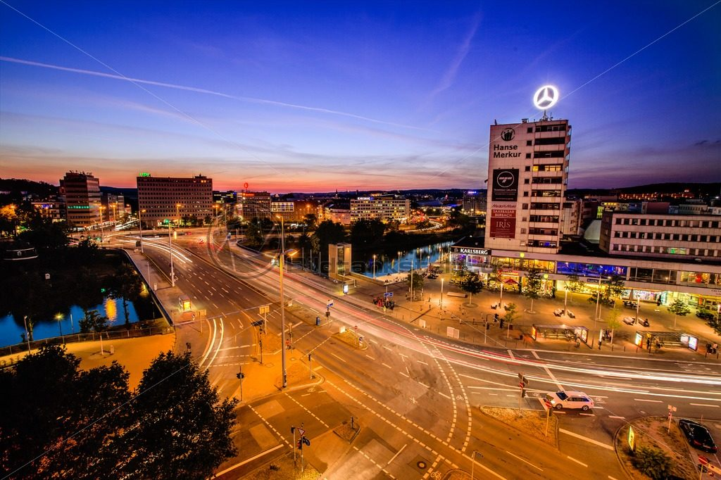 Skyline von Saarbrücken, Saarland - Bildtankstelle.de