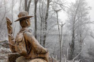 tapferer Wandersmann auf dem Schaumberg, Saarland - Bildtankstelle.de