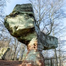 Der Stiefel-Felsen bei St. Ingbert, Saarland - Bildtankstelle.de
