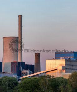 Kraftwerk Ensdorf im Abendlicht, Saarland - Bildtankstelle.de - Bilddatenbank für Foto-Motive aus SAAR-LOR-LUX
