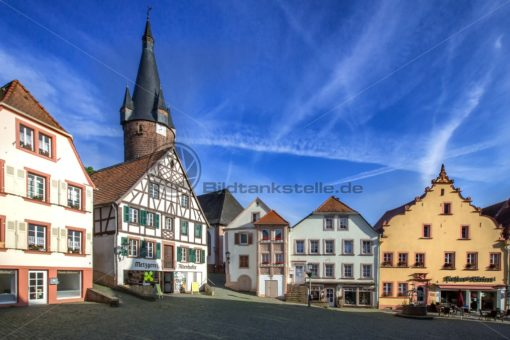 Marktplatz in Ottweiler, Saarland - Bildtankstelle.de