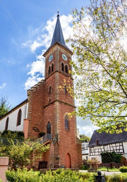Apostel Kirche in Einöd, Saarland – Bildtankstelle.de – Bilddatenbank für Foto-Motive aus SAAR-LOR-LUX