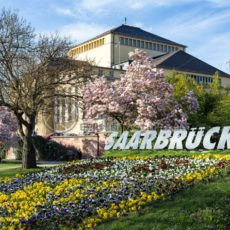 Blütenpracht am Staatstheater, Saarbrücken, Saarland - Bildtankstelle.de - Bilddatenbank für Foto-Motive aus SAAR-LOR-LUX