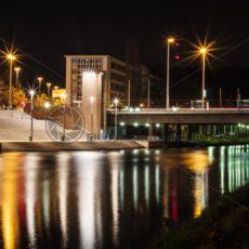 Freitreppe_Berliner Promenade_Nacht - Bildtankstelle.de - Bilddatenbank für Foto-Motive aus SAAR-LOR-LUX