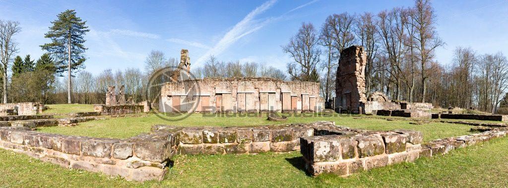 Panorama der Klosterruine von Wörschweiler, Landkreis Homburg, Saarland - Bildtankstelle.de - Bilddatenbank für Foto-Motive aus SAAR-LOR-LUX