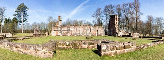 Panorama der Klosterruine von Wörschweiler, Landkreis Homburg, Saarland – Bildtankstelle.de – Bilddatenbank für Foto-Motive aus SAAR-LOR-LUX