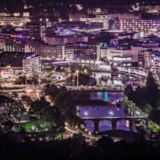 Saarbruecken bei Nacht - Bildtankstelle.de - Bilddatenbank für Foto-Motive aus SAAR-LOR-LUX
