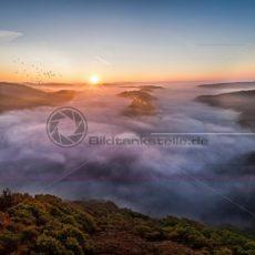 Saarschleife Sonnenaufgang - Bildtankstelle.de - Bilddatenbank für Foto-Motive aus SAAR-LOR-LUX