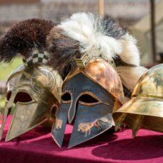 Sammlung römischer Helme, Römermuseum Schwarzenacker - Bildtankstelle.de - Bilddatenbank für Foto-Motive aus SAAR-LOR-LUX
