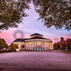Staatstheater Sonnenuntergang - Bildtankstelle.de - Bilddatenbank für Foto-Motive aus SAAR-LOR-LUX