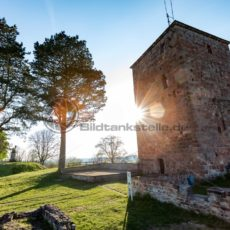 der alte Turm der Siersburg im Gegenlicht, Siersburg, Saarland - Bildtankstelle.de - Bilddatenbank für Foto-Motive aus SAAR-LOR-LUX