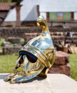 römischer Helm im Römermuseum Schwarzenacker - Bildtankstelle.de - Bilddatenbank für Foto-Motive aus SAAR-LOR-LUX