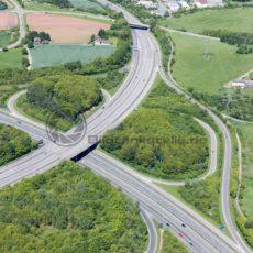 Autobahnkreuz Saarbrücken von A1 zu A8, Saarland - Bildtankstelle.de - Bilddatenbank für Foto-Motive aus SAAR-LOR-LUX