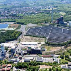 Kraftwerk Weiher, im Fordergrund Schacht IV Göttelborn, Saarland - Bildtankstelle.de - Bilddatenbank für Foto-Motive aus SAAR-LOR-LUX