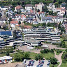 Luftaufnahme vom Rathaus in Homburg, Saarland - Bildtankstelle.de - Bilddatenbank für Foto-Motive aus SAAR-LOR-LUX