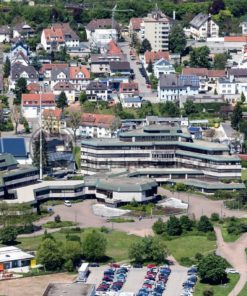 Luftaufnahme vom Rathaus in Homburg, Saarland - Bildtankstelle.de