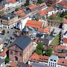 Luftaufnahme vom alten Markt in Homburg, Saarland - Bildtankstelle.de - Bilddatenbank für Foto-Motive aus SAAR-LOR-LUX