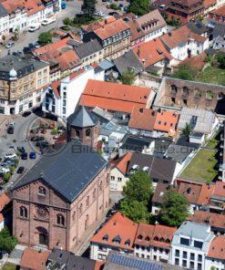 Luftaufnahme vom alten Markt in Homburg, Saarland - Bildtankstelle.de