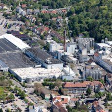 Luftaufnahme von der Karlsberg Brauerei in Homburg, Saarland - Bildtankstelle.de - Bilddatenbank für Foto-Motive aus SAAR-LOR-LUX