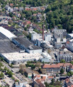 Luftaufnahme von der Karlsberg Brauerei in Homburg, Saarland - Bildtankstelle.de