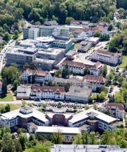 Luftaufnahme von der Universität in Homburg, Saarland - Bildtankstelle.de
