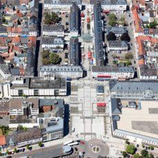 Schönheit der Symmetrie: Saarlouis aus der Luft - Bildtankstelle.de - Bilddatenbank für Foto-Motive aus SAAR-LOR-LUX