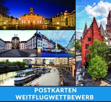 Wettbewerb: Saarbrücker Postkarten gehen auf Weltreise