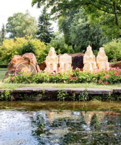 Pharaonen von Abu Simbel in der Gulliver Welt in Bexbach, Saarland - Bildtankstelle.de - Bilddatenbank für Foto-Motive aus SAAR-LOR-LUX