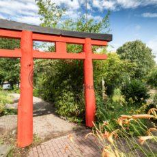japanisches Tor im Blumengarten von Bexbach, Saarland - Bildtankstelle.de - Bilddatenbank für Foto-Motive aus SAAR-LOR-LUX