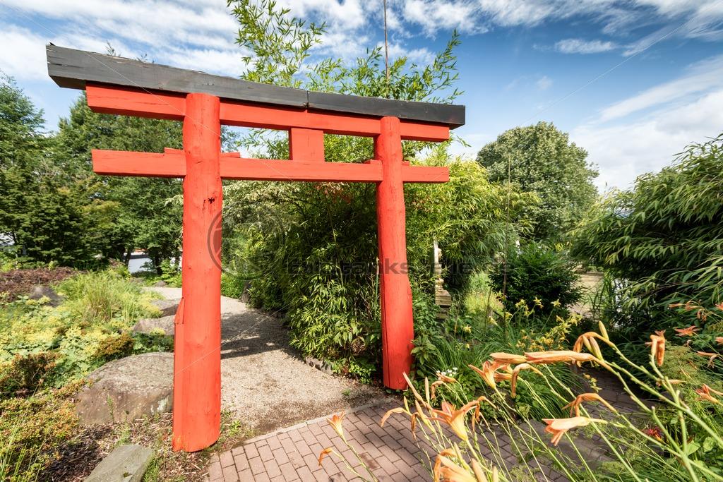 japanisches tor im blumengarten von bexbach saarland. Black Bedroom Furniture Sets. Home Design Ideas
