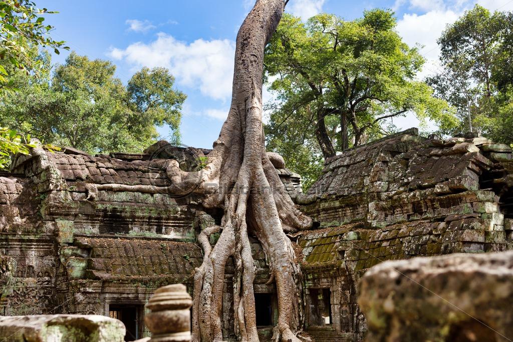 Tempelanlage in Angkor Wat: Blickfang-Motive für Zuhause, Praxis, Büro, Hotel - Bildtankstelle.de