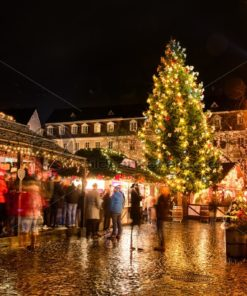 Weihnachtsmarkt Saarbrücken, St. Johanner Markt, Saarland - Bildtankstelle.de