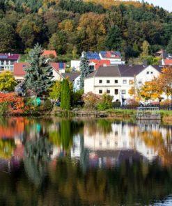 Herbststimmung am Niederwürzbacher Weiher, Saarland - Bildtankstelle.de