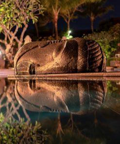 Buddhakopf im Wasser, Reflektionen - Bildtankstelle.de