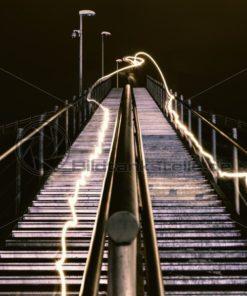 Lightpainting auf Treppe - Bildtankstelle.de