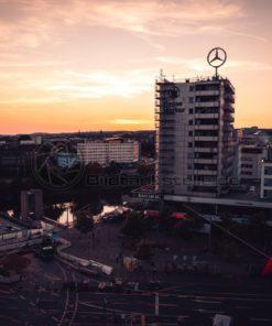 Wilhelm-Heinrich-Brücke im Sonnenuntergang - Bildtankstelle.de