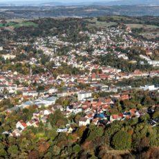 Ottweiler aus der Luft, Saarland - Bildtankstelle.de