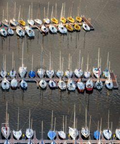 Segelboote auf dem Bostalsee, Saarland - Bildtankstelle.de