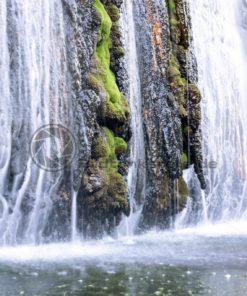 Wasserfall im Wassergarten Landsweiler Reden, Saarland - Bildtankstelle.de
